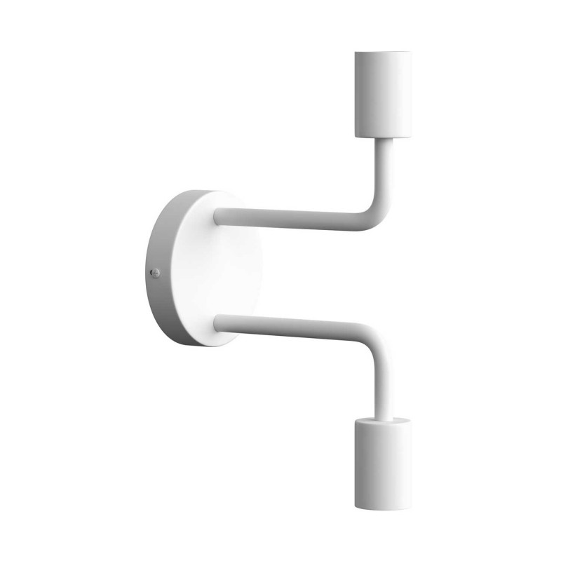 Fermaluce Monochrome, kovové nástěnné svítidlo se dvěmi ohnutými prodlužovacími trubičkami