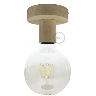 Fermaluce Natural, přírodní dřevěné bodové svítidlo na stěnu nebo strop