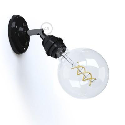 Fermaluce 90° Monochrome s objímkou E27 se závitem, nastavitelné porcelánové svítidlo