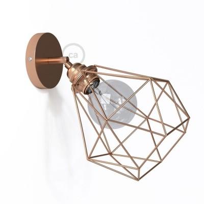 Fermaluce Metallo 90° Urban, nastavitelné kovové nástěnné bodové svítidlo se stínidlem Diamant