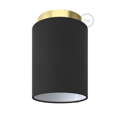 Fermaluce Glam s válcovým stínidlem, Ø 15cm v18cm, kovové nástěnné nebo stropní svítidlo