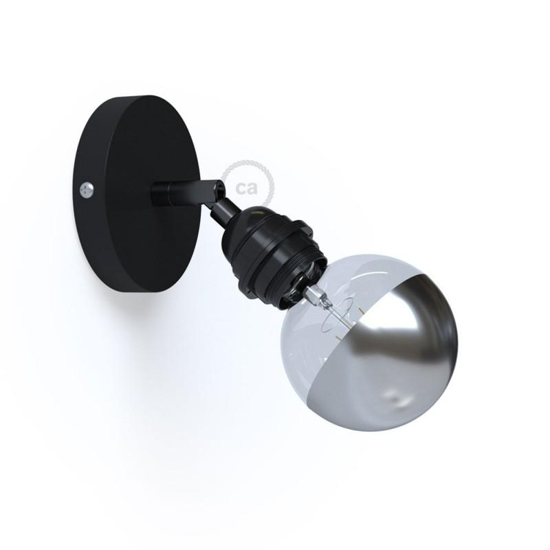 Fermaluce Metallo 90° Monochrome, nastavitelné kovové nástěnné nebo stropní svítidlo s objímkou E27 se závitem