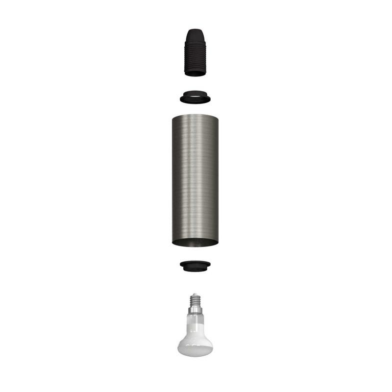 Fermaluce Urban nastavitelné kovové nástěnné bodové svítidlo se stínidlem Tub-E14