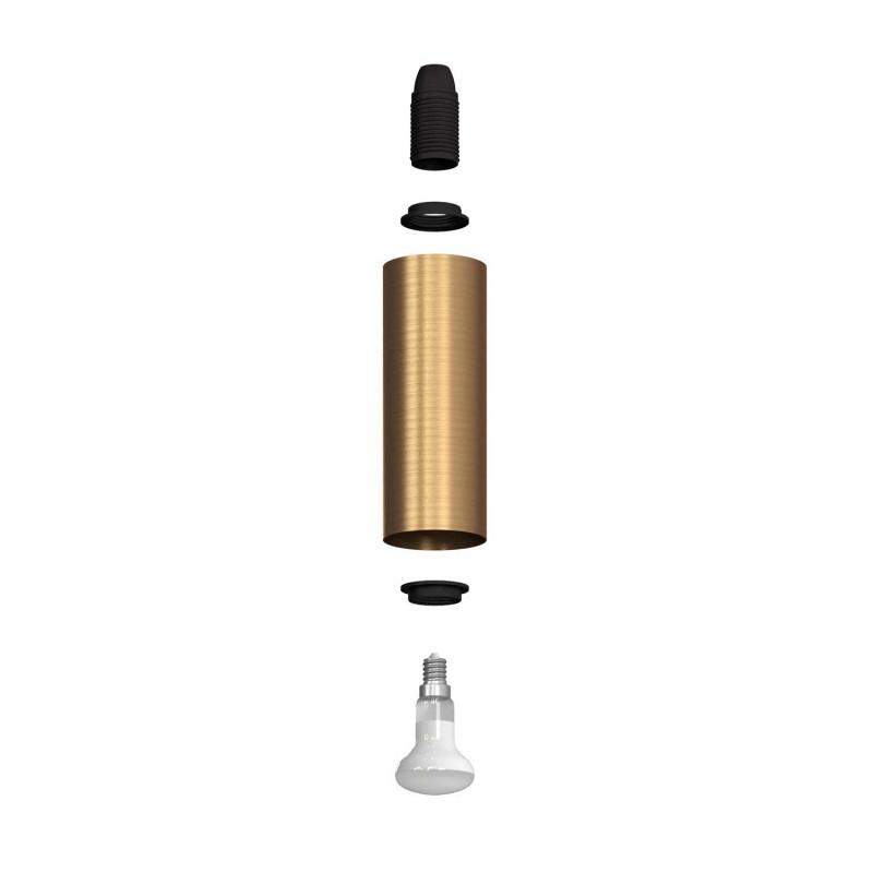 Fermaluce Vintage kovové nástěnné svítidlo s ohnutou prodlužovací trubičkou a stínidlem Tub-E14
