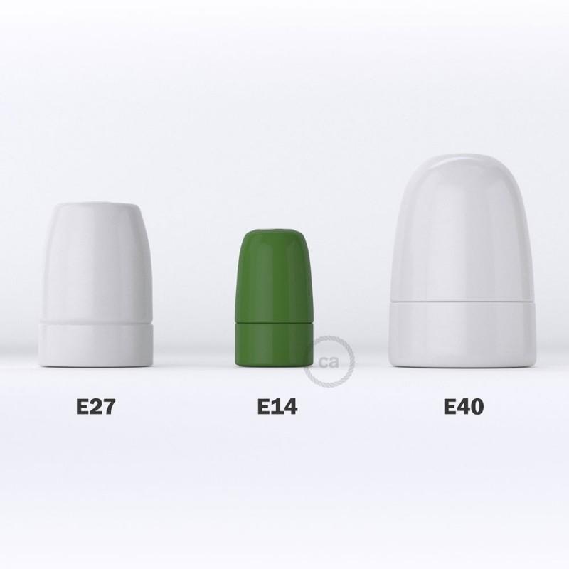 Porcelánová objímka E14 v sadě