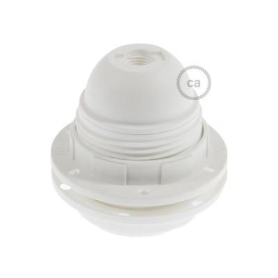 Objímka z termoplastu E27 s kroužky pro stínidlo