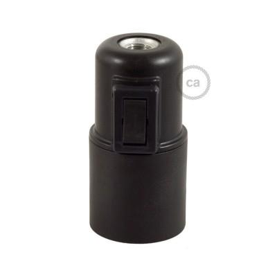 Objímka z termoplastu E27 s vypínačem