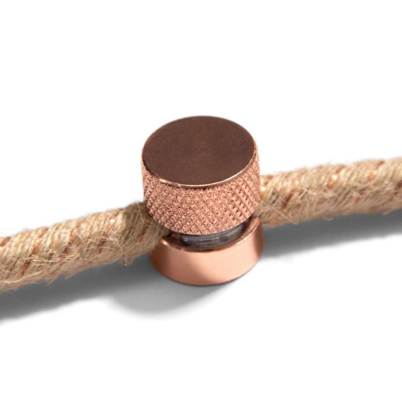 Sarè - Kovová nástěnná kabelová svorka pro textilní elektrické kabely - měď