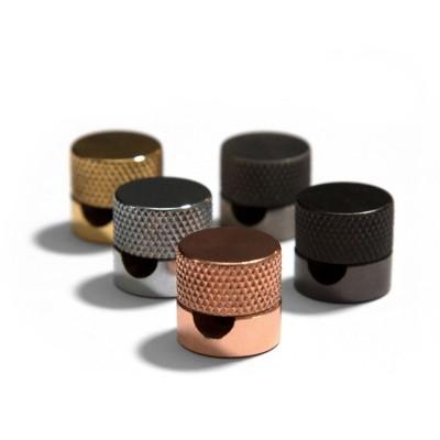Sarè - Kovová nástěnná kabelová svorka pro textilní elektrické kabely - černá perleť