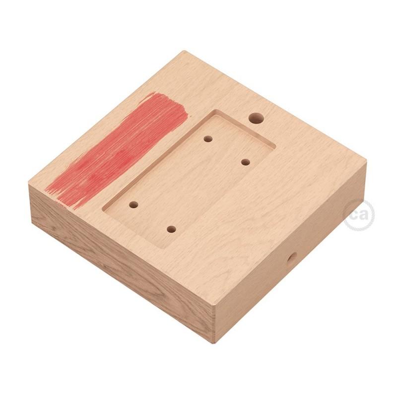 Čtvercová základna z přírodního dřeva pro závěsný systém Archet(To)