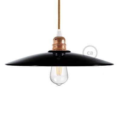 Keramické stínidlo ve tvaru talíře pro závěsné lampy - Vyrobené v Itálii