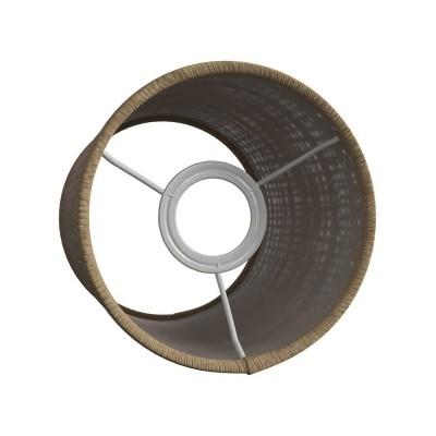 Válcové stínidlo z přírodního lýka pro objímku E27 - Vyrobené v Itálii