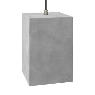 Betonové stínidlo Cube pro závěsné lampy s kabelovou svorkou a objímkou E27