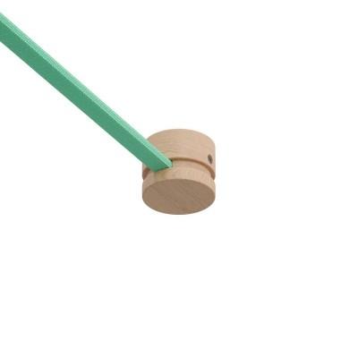Dřevěná koncová kabelová svorka s příslušenstvím pro světelné řetězy a Filé System. Vyrobená v Itálii