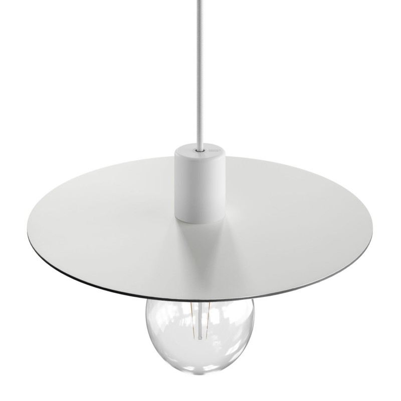 EIVA ELEGANT závěsná lampa se stínidlem, 5m textilního kabelu, decentralizér, silikonový baldachýn a objímka, IP65 voděodolná