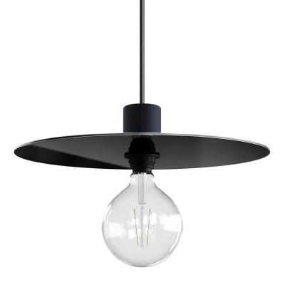 Velké stínidlo ve tvaru LP desky z materiálu Dibond pro exteriérové závěsné lampy, průměr 40 cm - Vyrobeno v Itálii