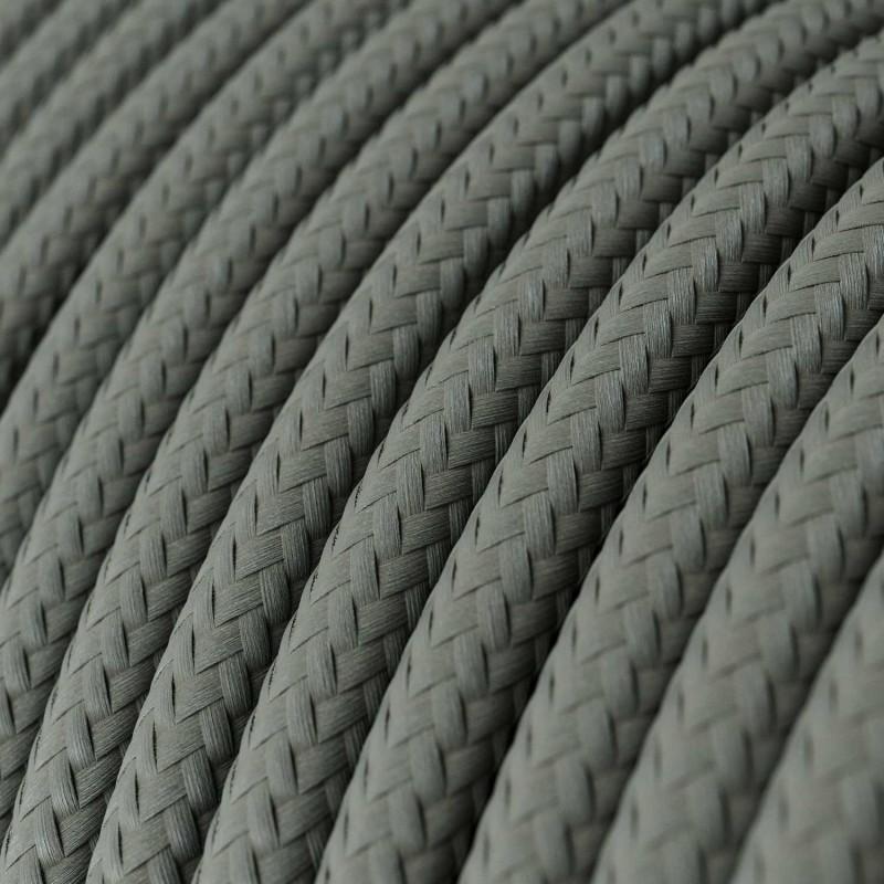 Závěsná lampa s textilním kabelem, stínidlem Tub-E14 a kovovými detaily – Vyrobeno v Itálii