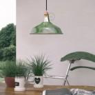Závěsná lampa s textilním kabelem, stínidlem Harbour a kovovými detaily – Vyrobeno v Itálii