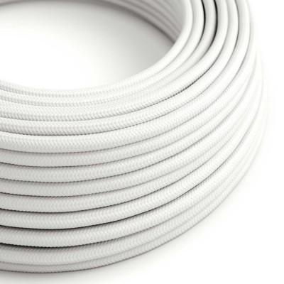 Hedvábný textilní elektrický kabel, RM01 Bílý