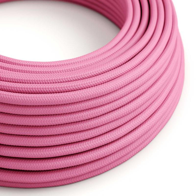 Hedvábný textilní elektrický kabel, RM08 Fuchsiový