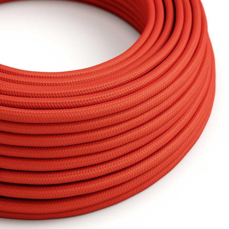 Hedvábný textilní elektrický kabel, RM09 Červený