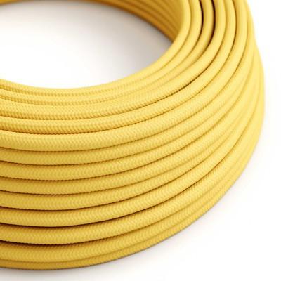 Hedvábný textilní elektrický kabel, RM10 Žlutý