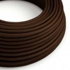 Hedvábný textilní elektrický kabel, RM13 Hnědý
