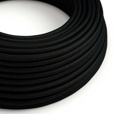 Hedvábný textilní elektrický kabel, RM04 Černý