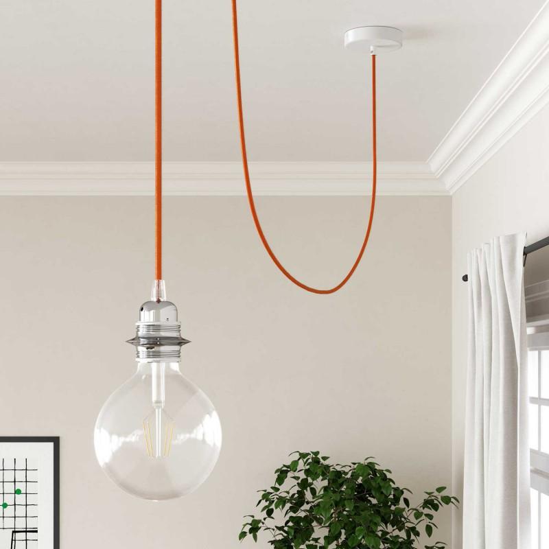 Hedvábný textilní elektrický kabel, RM15 Oranžový