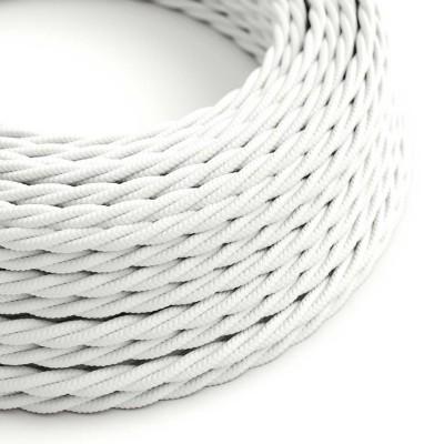 Splétaný hedvábný textilní elektrický kabel, TM01 Bílý