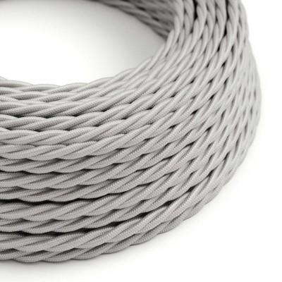 Splétaný hedvábný textilní elektrický kabel, TM02 Stříbrný