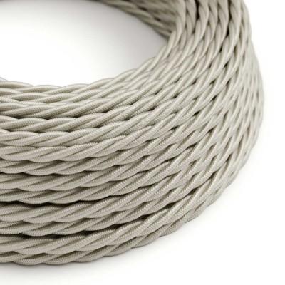 Splétaný hedvábný textilní elektrický kabel, TM00 Slonovinový