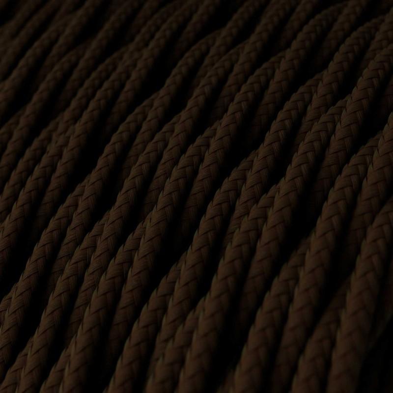 Splétaný hedvábný textilní elektrický kabel, TM13 Hnědý