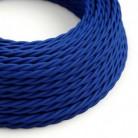 Splétaný hedvábný textilní elektrický kabel, TM12 Modrý