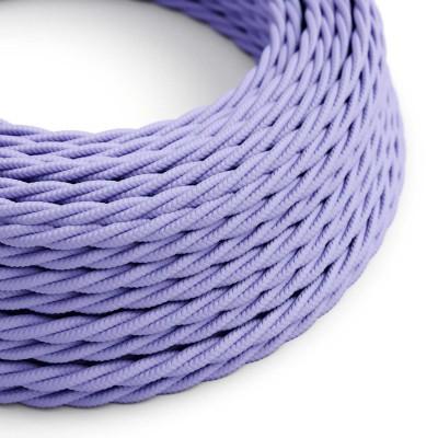 Splétaný hedvábný textilní elektrický kabel, TM07 Lila