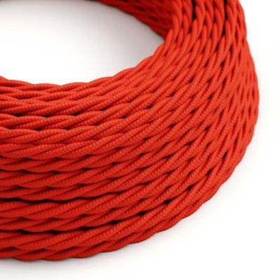 Splétaný hedvábný textilní elektrický kabel, TM09 Červený