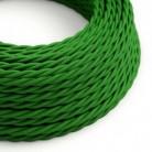 Splétaný hedvábný textilní elektrický kabel, TM06 Zelený