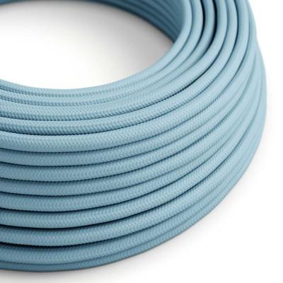Hedvábný textilní elektrický kabel, RM17 Azurový