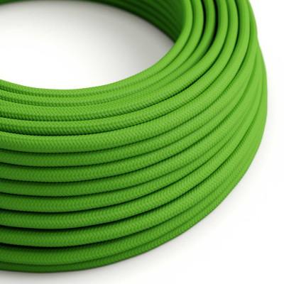 Hedvábný textilní elektrický kabel, RM18 Limetkový