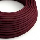 Hedvábný textilní elektrický kabel, RM19 Bordový