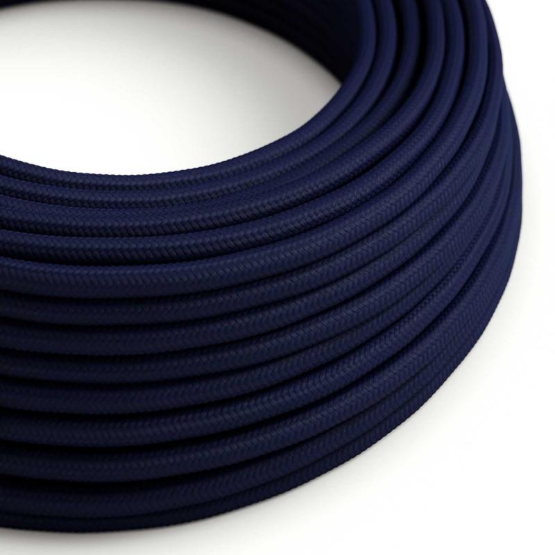 Hedvábný textilní elektrický kabel, RM20 Tmavě modrý