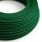 Hedvábný textilní elektrický kabel, RM21 Tmavě zelený