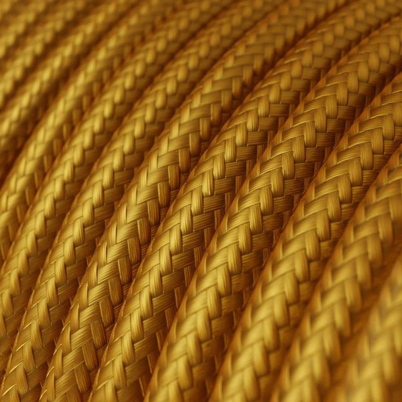Hedvábný textilní elektrický kabel, RM05 Zlatý