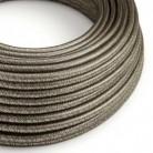 Hedvábný textilní elektrický kabel - třpytivý efekt - RL03 Šedý