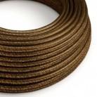 Hedvábný textilní elektrický kabel - třpytivý efekt - RL13 Hnědý