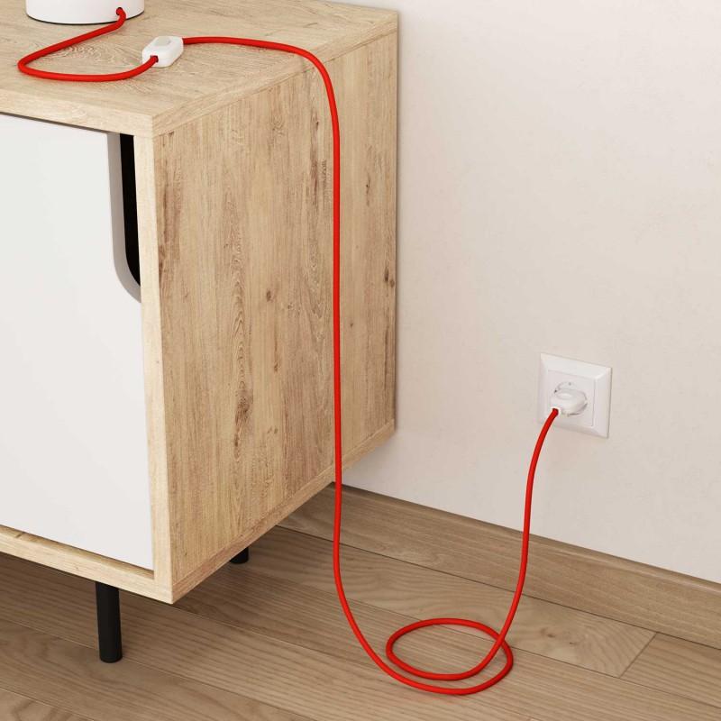 Hedvábný textilní elektrický kabel, RF15 Fluo oranžový