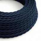 Splétaný hedvábný textilní elektrický kabel, TM20 Tmavě modrý