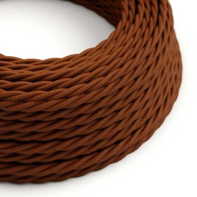 Splétaný bavlněný textilní elektrický kabel, TC23 barvy jelena
