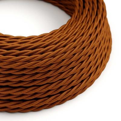 Splétaný hedvábný textilní elektrický kabel, TM22 Whisky