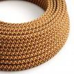 Hedvábný textilní elektrický kabel, RX01 pixelovaný oranžový